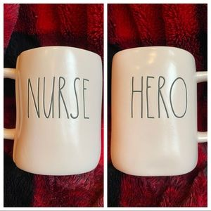 Rae Dunn HERO NURSE pink mug